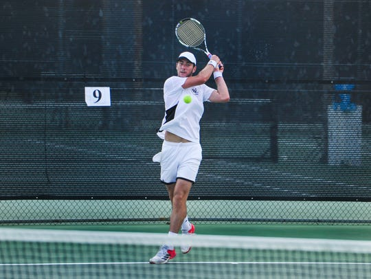 UL's Pearse Dolan is shown in the 2016 John Breaux Cajun Tennis Classic. Dolan and the classic return to Cajun Courts this weekend.