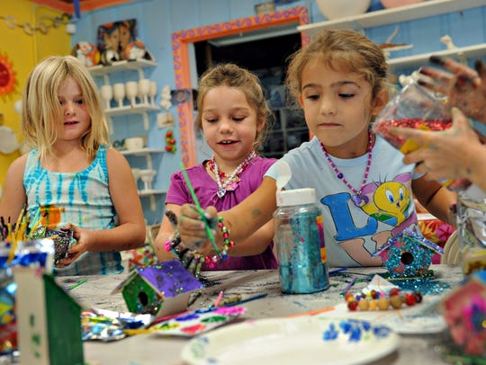 Kids' Night Out has been popular at Stuart Ceramics
