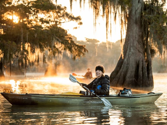 Theresa Low is seen during a November 2016 Atchafalaya Basin photography workshop and tour.