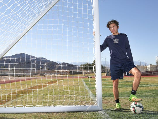 Lucas Rosales is a senior soccer player at La Quinta