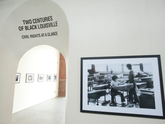 The museum houses a photo exhibit containing historical