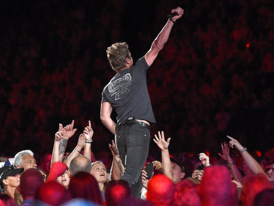 Dierks Bentley, pictured here at the 2016 CMA Festival in Nashville, is coming back to the PNC Bank Arts Center in Homdel.