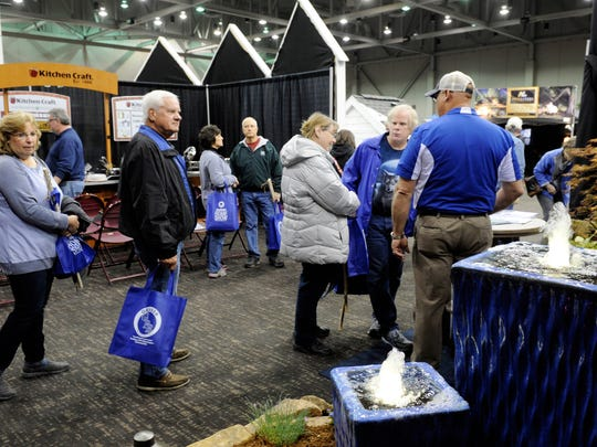 Attendees browsing some of the 175 booths at last year's annual Heritage Federal Credit Union Home Show. The show is back this weekend.