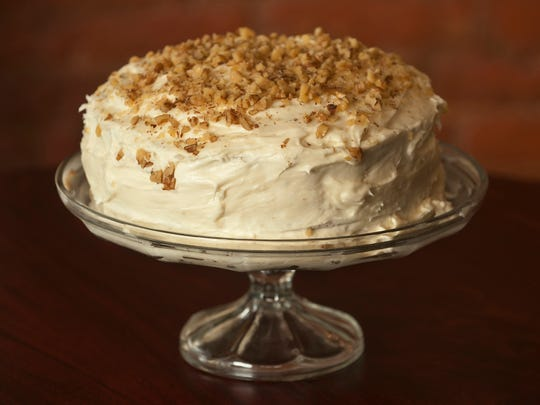 The Hummingbird Cake at Cafe 157 on Main Street in New Albany, Indiana.