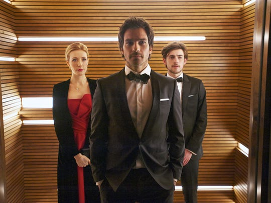 Jennifer Finnigan, Santiago Cabrera and Charlie Rowe