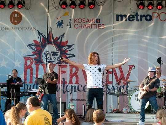 The Louisville Crashers perform at the Riverview Park Independence Festival.01 July 2017