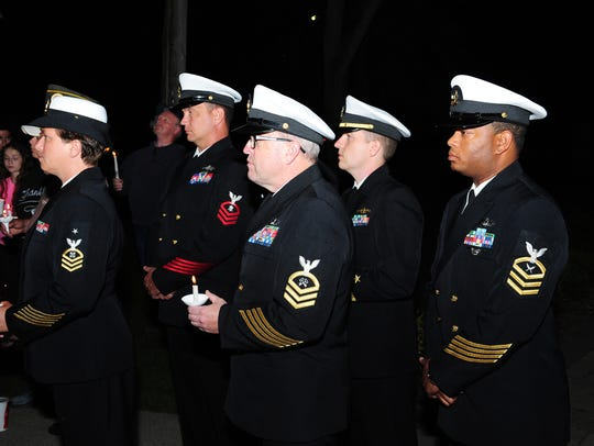 Members of the military were on hand at the candlelight