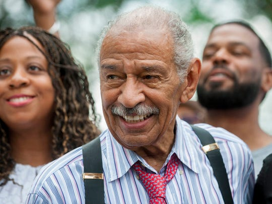 Rep. John Conyers in July 2017 in Detroit