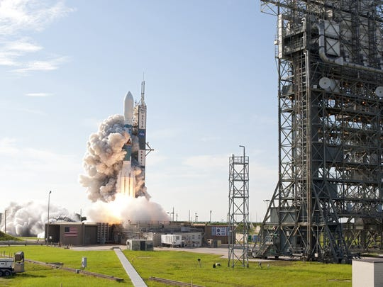 On Sept. 10, 2011, NASA's GRAIL mission blasted off from Cape Canaveral Air Force Station's Launch Complex 17B aboard a United Launch Alliance Delta II rocket, in the final liftoff from the complex. Nearly seven years later, Launch Complex 17's twin launch towers are scheduled to be demolished on July 12, 2018.