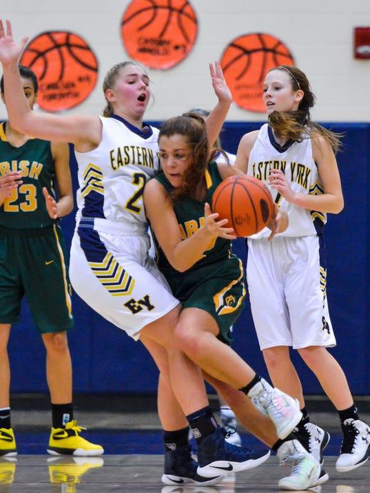 York Catholic vs Eastern York girls' basketball