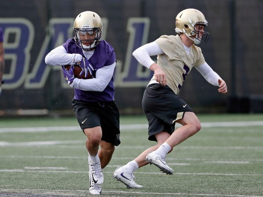 Barring injury, Myles Gaskin will break Washington's career rushing record this season, possibly as soon as the season opener against Auburn.