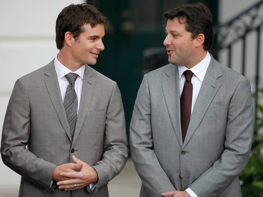 Jeff Gordon, left, and Tony Stewart haven't always been friends. But they bonded along the way, and now have gotten the unlikely opportunity to compete once more,