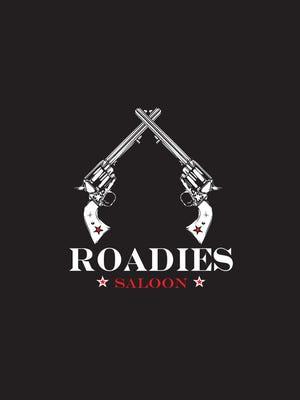 A rendering of the Roadies Saloon logo.