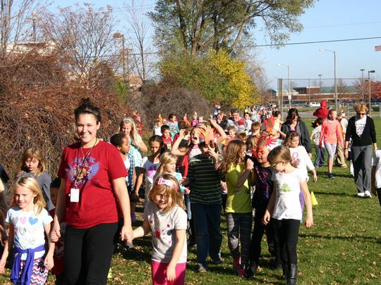 Tullar Elementary School students and staff recently participated in a 3K Turkey Trot run/walk around the playground. The event was an acknowledgment of the students reaching their positive behavior goals of respect and responsibility during the first quarter.