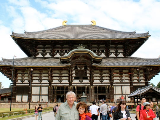 Ron and Jill Rubin in front of the Todaiji Temple near