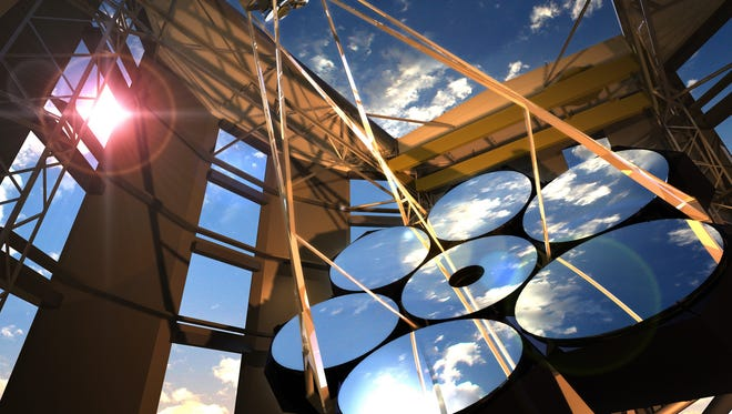 Giant Magellan Telescope lenses, built at the University of Arizona's Steward Observatory Mirror Lab.