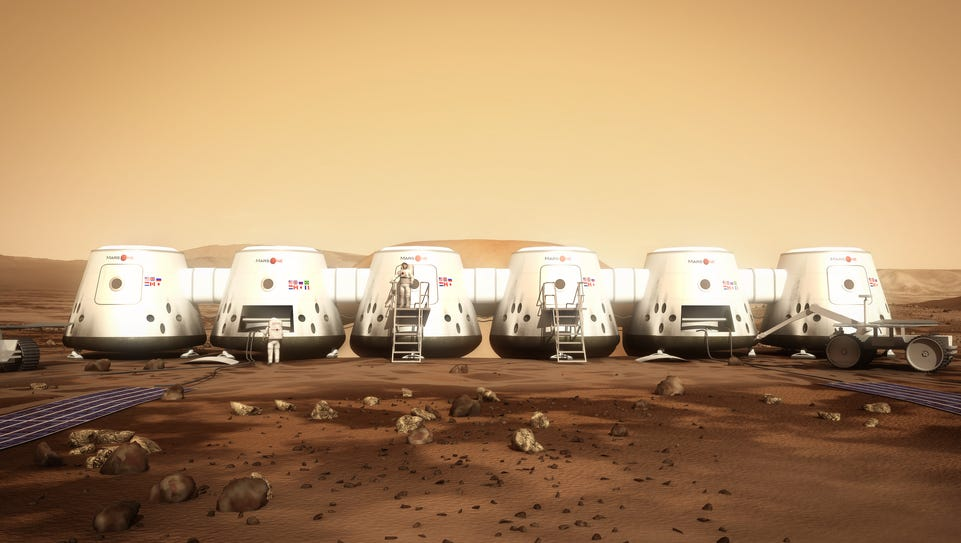 The journey to Mars would take half a year, and there