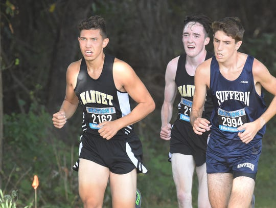 Suffern's Jeremy Giardina, right, follows close behind