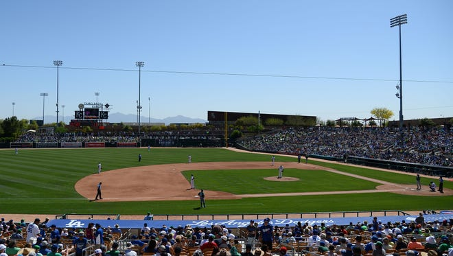 A view of Camelback Ranch, the spring training home for the Los Angeles Dodgers and Chicago White Sox.