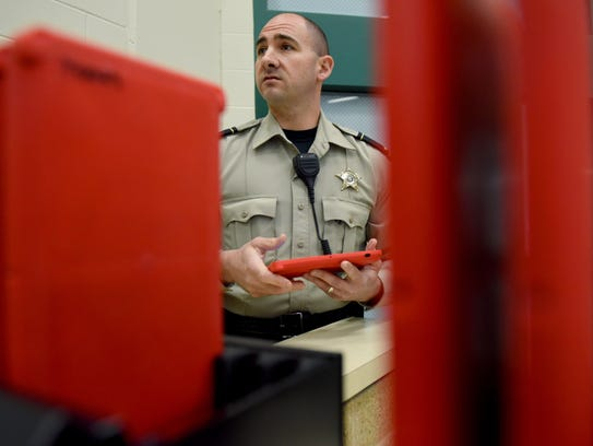 Lt. Mike Mattson with Minnehaha County Jail is framed