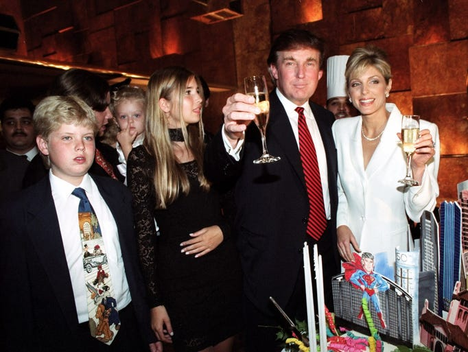 Donald Trump, celebrating his 50th birthday in style