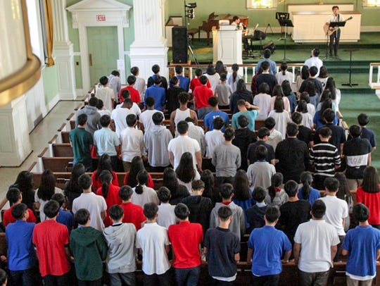 Students at Global Vision Christian School in Scotland