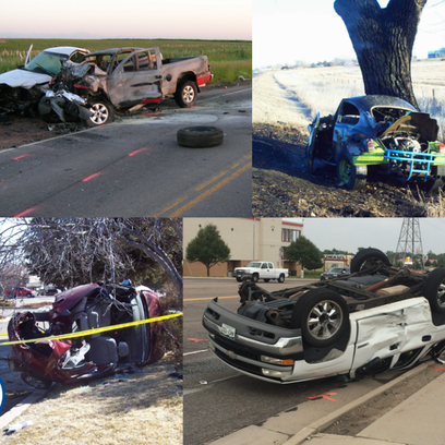 Images of various crashes in Aurora