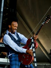 Fantastic Negrito performs for the crowd at Bourbon