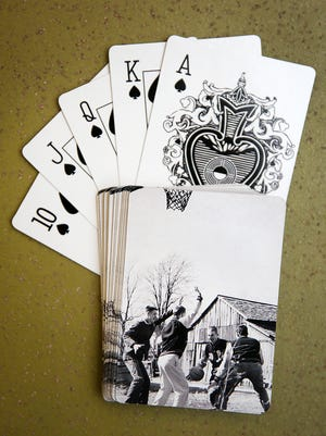 This deck of cards, with a Retro Indy photo on each card, was purchased through MyCapture.