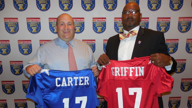 David Carter of St. George's and Wooddale's Jerome Griffin are the coaches for this year's AutoZone Liberty Bowl high school all-star game.