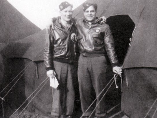 Richard LaRiviere, left, and James Megellas, both lieutenants