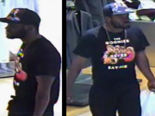 Naples police are searching for three thieves accused of stealing from Macy's at Coastland Center on Dec. 22.