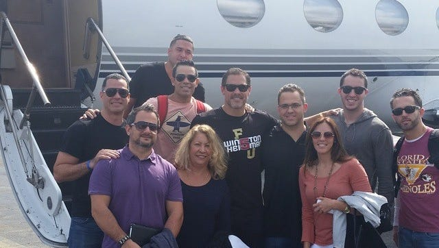 Jesus Hernandez (middle, sun glasses) will serve as FSU's honorary team captain vs. Virginia