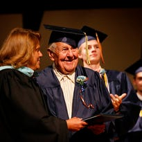 Gallery: Veteran receives diploma 70+ years later