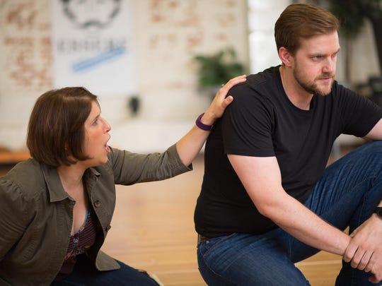 Sarah Asmar plays Ofelia while her husband, Joshua Kohl, plays Hamlet in OperaDelaware's festival, which starts Saturday.