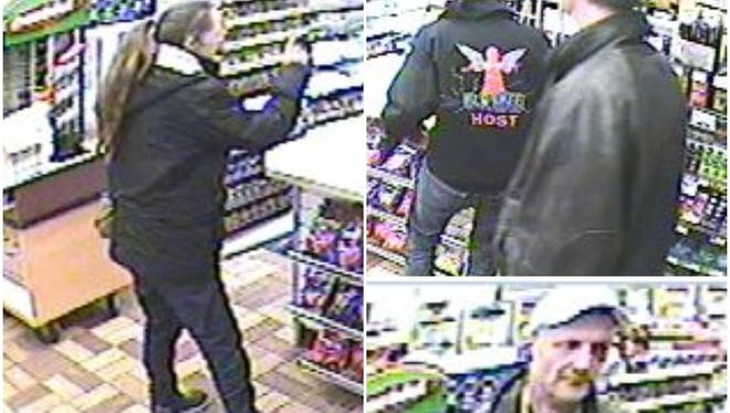 Suspects who stole 100 stolen scratch-off lottery tickets from the Speedway gas station in Menomonee Falls. Police need help in identifying them.