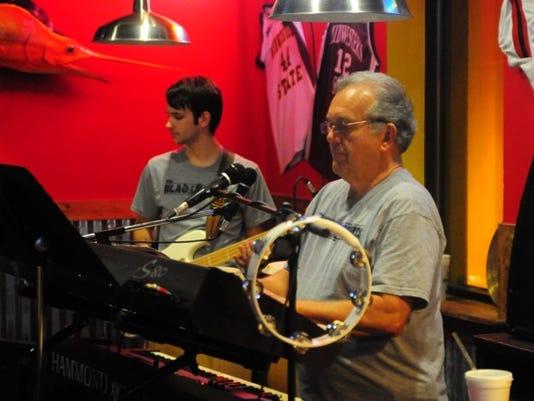 Austin Monson and Alan Black of Black & White band playing Fuzzy's