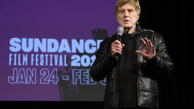 Robert Redford, president and founder of the Sundance Institute, addresses reporters during the opening day press conference at the 2019 Sundance Film Festival, Thursday, Jan. 24, 2019, in Park City, Utah.