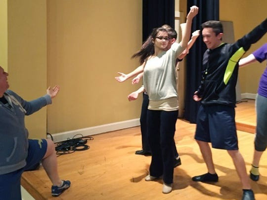 """Rehearsal for Music City Theatre Collective's """"Showstoppers."""""""