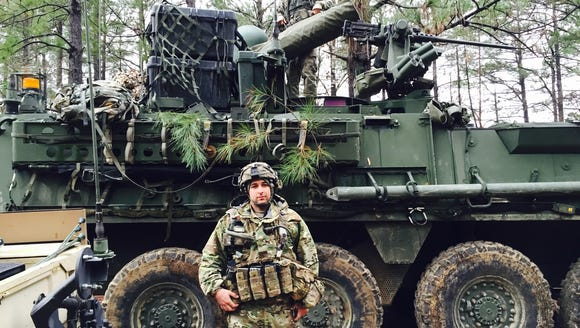 Spc. James Maclean, of Whittier, Calif., is with Alpha