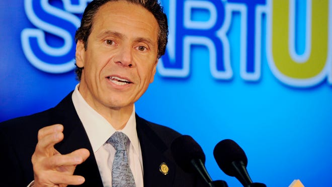 Gov. Andrew Cuomo speaks about his economic development programs in western New York at the University of Buffalo's South Campus in this file photo.