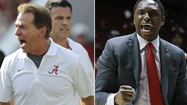 Athlon Sports lists Nick Saban and Avery Johnson as the top football/men's basketball coaching duo in the Southeastern Conference