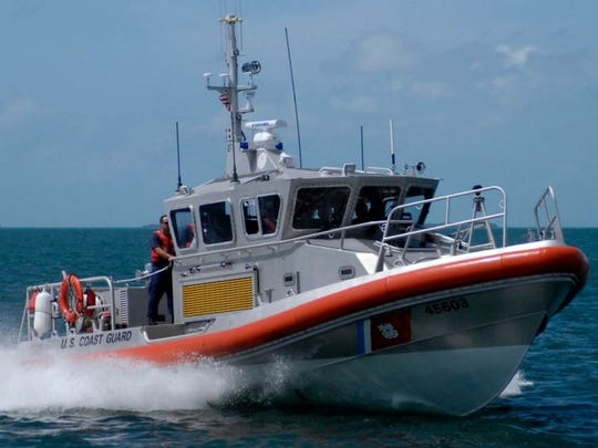U.S.Coast Guard Cutter Bluefin in the Atlantic Ocean off the coast of Fort Pierce.