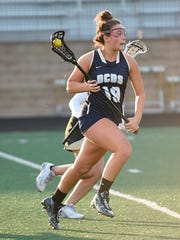 Emilie Ascione (19) was one of three Detroit Country Day players named Division 2 honorable mention all-state.