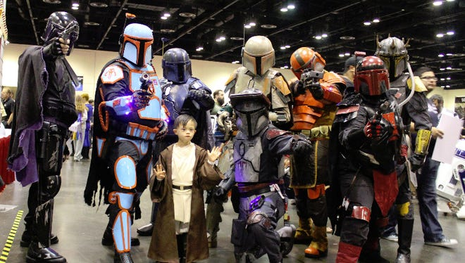 Preston Todaro, almost 7, of Ft. Lauderdale was a young Jedi. MegaCon Orlando is a four day event from May 26-29 that features actors, artists, cosplay fans, comic book characters and more.