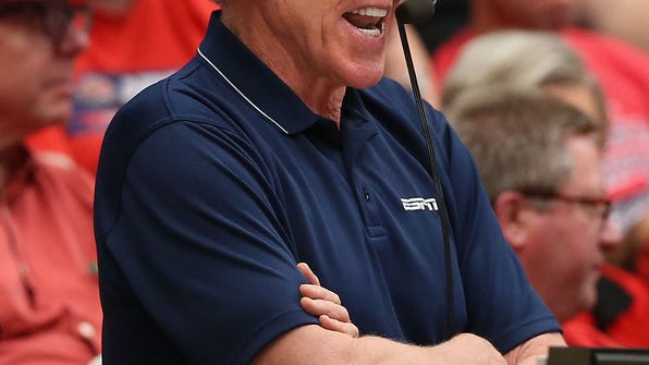 Bill Walton broadcasts the college basketball game between the California Golden Bears and Arizona Wildcats at McKale Center on February 26, 2014 in Tucson, Arizona. Walton will return to Pac-12 Network broadcasts this season as an analyst.
