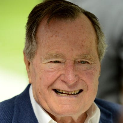 Former U.S. President George H.W. Bush is shown on