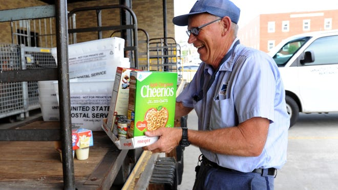 On May 14, United States Postal Service letter carriers like Keith Schwickerath will be picking up donated food. The food will be distributed to local food pantries. To donate, leave food next to your mailbox or for walking routes on your porch before your letter carrier arrives. Donations can also be left on the Lancaster Post Office loading dock between noon and 4:30 p.m. May 14. The post office is located at 204 S. Broad St., Lancaster.