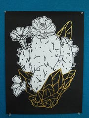 Skulls and Succulents, offers t-shirt and posters with custom designed art by Keena Wolff, Friday June 30, 2017.