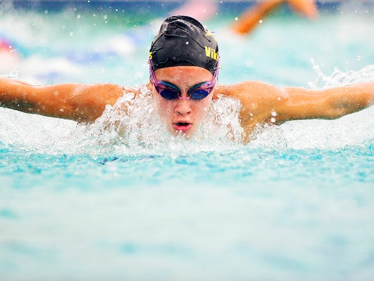 Bishop Verot High School's Shae Clifton, 17, practices Wednesday at the Fort Myers Aquatic Center. Clifton is among Southwest Florida's best high school swimmers.